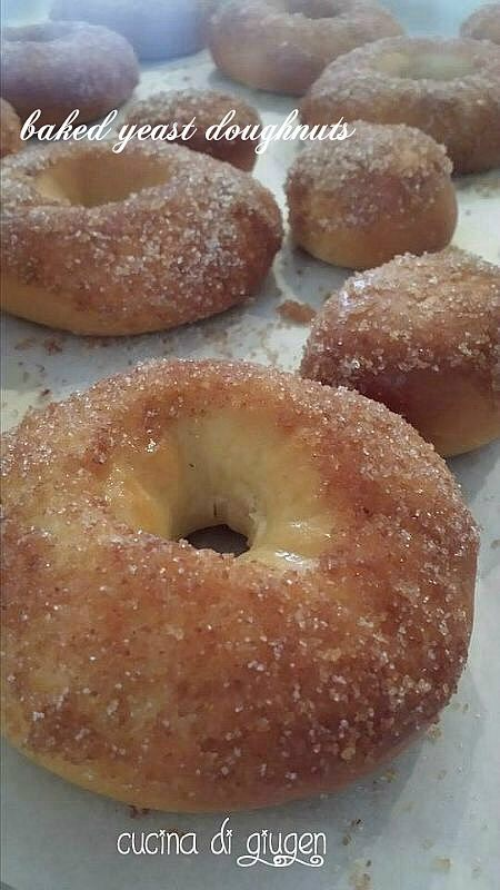 baked yeast doughnuts - ciambelle cotte al forno