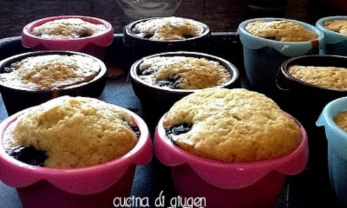 Blueberry muffins (muffins ai mirtilli)