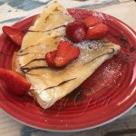 Crepes con gianduia e fragole